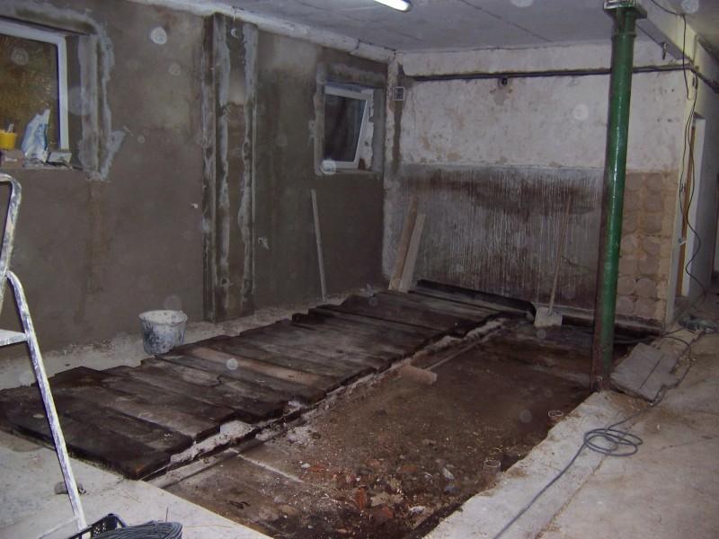 rekonstrukce - oprava podlahy